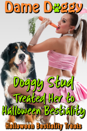 Doggy Stud Treated Her to Halloween Bestiality